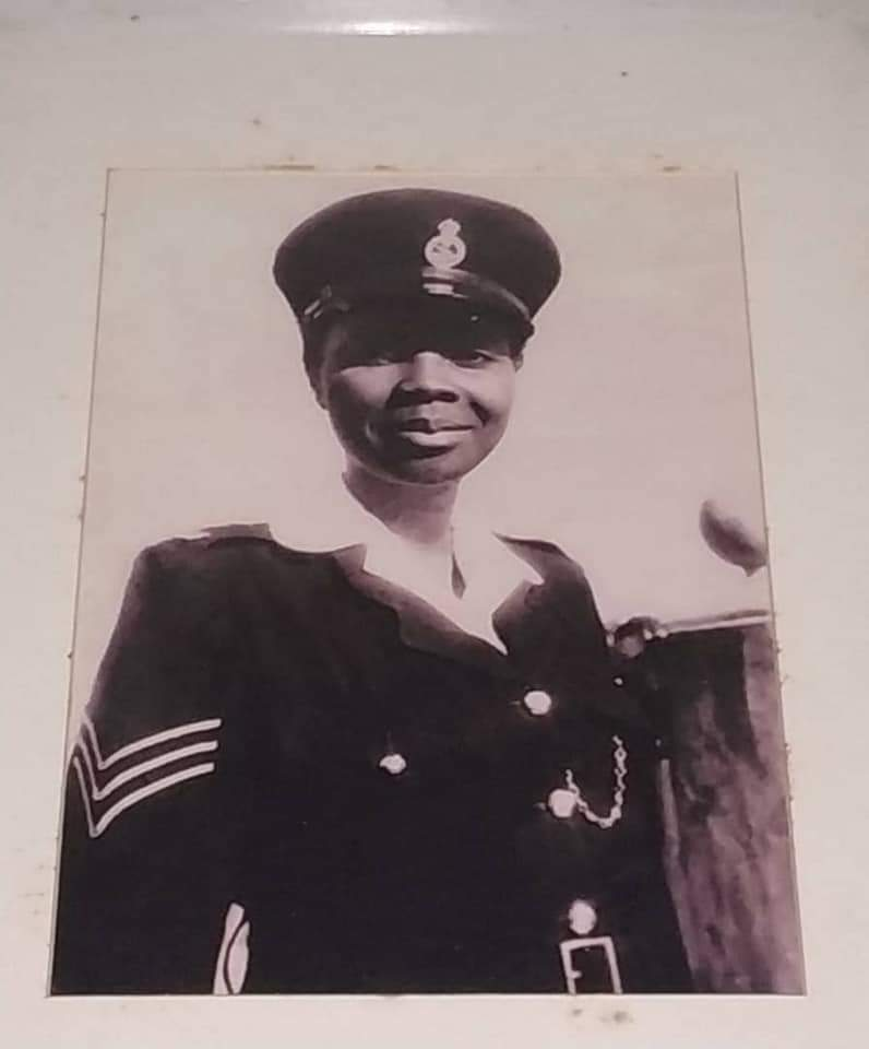 Rosemond Nkansah, the first Ghanaian woman to be enlisted into the Ghana Police Service, then the Gold Coast Police Force.