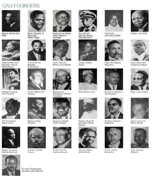 the Organisation of African Unity (OAU) was formed in Addis Ababa, Ethiopia in which President Kwame Nkrumah of Ghana and Emperor Haile Selassie of Ethiopia played prominent roles. Later On July 9, 2002 at an meeting of African leaders in Durban, South Africa, the African Union (AU) was formed.